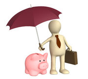 Insurance of bank contributions Stock Images