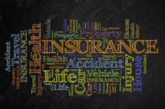 Insurance blackboard Royalty Free Stock Image