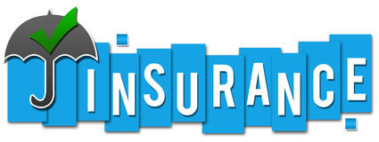 Insurance Blue Stripes Stock Images