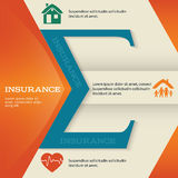 Insurance-brochure-template-business-style-presentation Royalty Free Stock Photography