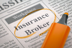 Insurance Broker Join Our Team. 3D. Stock Photo