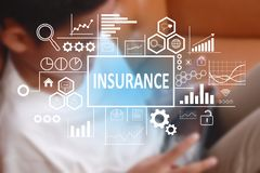 Insurance in Business Concept stock photos