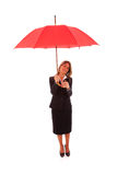 Insurance businesswoman Stock Photo