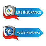 Insurance button Stock Photography