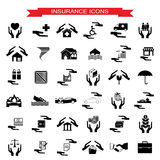 Insurance Car, home, disasters, investment, health, and travel i Royalty Free Stock Images
