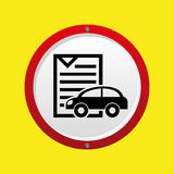 Insurance car policy paper icon. Vector illustration eps 10 Royalty Free Stock Photo