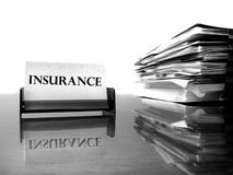 Insurance Card and Files Royalty Free Stock Photography