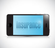 Insurance card on a smart phone. illustration Stock Photos