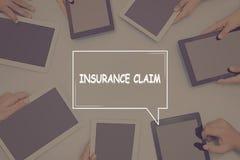 INSURANCE CLAIM CONCEPT Business Concept. Business text Concept Stock Photo