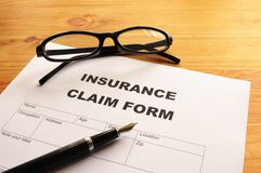 Insurance claim form Royalty Free Stock Photos