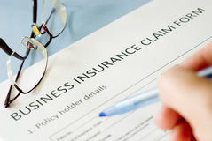 Insurance claim form Royalty Free Stock Image