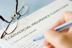 Insurance claim form Royalty Free Stock Image