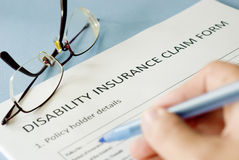 Insurance claim form Stock Photos