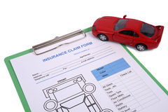 Insurance claim form Stock Photography