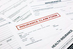 Insurance claim form, Stock Photos