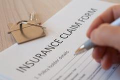 Insurance claim form Royalty Free Stock Photo