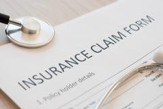 Insurance claim form Royalty Free Stock Photos