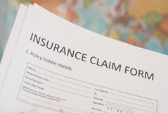 Insurance claim form Stock Images