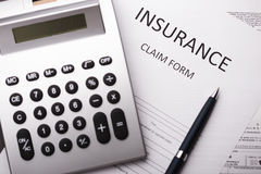 Insurance claim forme Stock Image