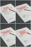 Insurance Claim Forms. 4 insurance claim forms relating to: Terrorism, Legal Expenses, Public and Employers Liability Royalty Free Stock Image