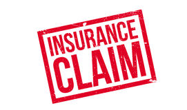 Insurance Claim rubber stamp Stock Image