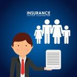Insurance company design Stock Photos