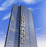 Insurance company headquartered. One 3d render of a skyscraper, headquarter of an insurance company Royalty Free Stock Photos