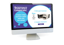 Insurance comparator computer Stock Photography