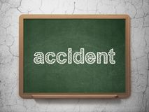 Insurance concept: Accident on chalkboard background Royalty Free Stock Image