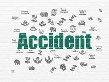 Insurance concept: Accident on wall background Stock Photo