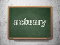 Insurance concept: Actuary on chalkboard background Stock Photography