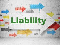 Insurance concept: arrow with Liability on grunge wall background Stock Photo
