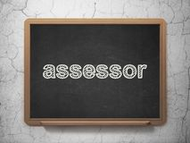 Insurance concept: Assessor on chalkboard background Stock Photography