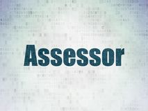Insurance concept: Assessor on Digital Data Paper background. Insurance concept: Painted blue word Assessor on Digital Data Paper background Royalty Free Stock Image