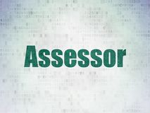 Insurance concept: Assessor on Digital Data Paper background. Insurance concept: Painted green word Assessor on Digital Data Paper background Royalty Free Stock Photography