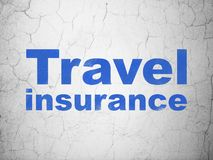 Insurance concept: Travel Insurance on wall background Stock Photography