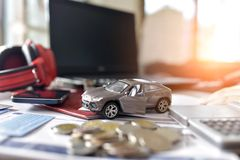 Car insurance concept background. royalty free stock image