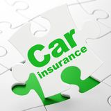 Insurance concept: Car Insurance on puzzle background Royalty Free Stock Photography