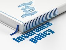 Insurance concept: book Family And Palm, Insurance Policy on white background Stock Photography