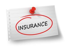 Insurance concept 3d illustration isolated. On white background Royalty Free Stock Images