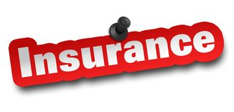 Insurance concept 3d illustration isolated. On white background Stock Photos