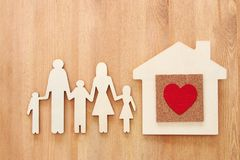 Insurance concept. family life, financial and health issues.  Royalty Free Stock Photo