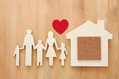 Insurance concept. family life, financial and health issues.  Stock Images