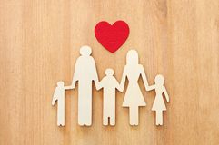 Insurance concept. family life, financial and health issues.  Stock Photography