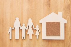 Insurance concept. family life, financial and health issues.  Royalty Free Stock Photos