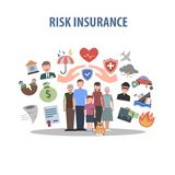 Insurance Concept Flat Royalty Free Stock Photography