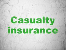 Insurance concept: Casualty Insurance on wall background Royalty Free Stock Images