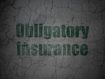 Insurance concept: Obligatory Insurance on grunge wall background Royalty Free Stock Photography