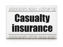 Insurance concept: newspaper headline Casualty Insurance Royalty Free Stock Photography