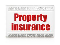 Insurance concept: newspaper headline Property Insurance Stock Photography